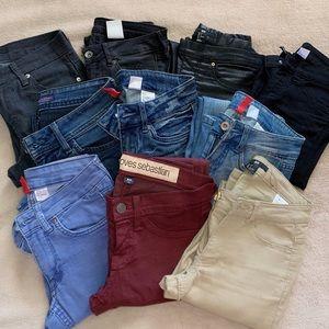 🤩 Jeans Bundle!! 10 pairs lot! All size 0/24!